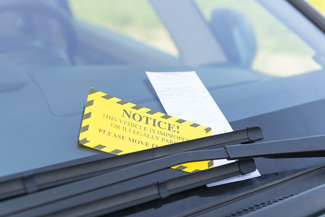Traffic Tickets on Car Windshield